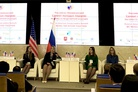 Young leaders of Russia and US modeling the future together